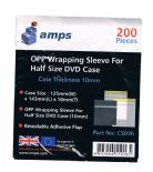 Amps CD 10mm Slim half size case OPP Wrapping Sleeves 200 Wraps CS09h